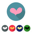 set of icons with heart vector image vector image