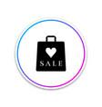 shopping bag shop love like heart symbol vector image