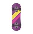 Skateboard isolated vector image vector image