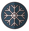 snowflake icon image vector image vector image