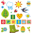 Spring Set Textile Element vector image vector image