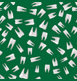 tooth seamless pattern vector image