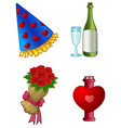 valentine s day icons vector image