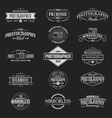 Vintage Badges Photography vector image vector image