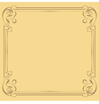 Vintage beautiful elegant frame Element for design vector image vector image