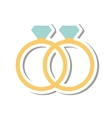wedding rings isolated icon vector image vector image