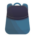 young backpack icon cartoon style vector image