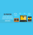 3d printing banner horizontal concept vector image vector image