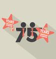 75 Years Anniversary Typography Design vector image vector image