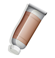 A brown medicinal tube vector image vector image