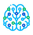 artificial intelligence brain sign icon vector image