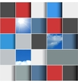 Background made of colorful squares vector image