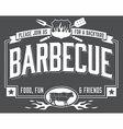 Backyard Barbecue Invitation vector image vector image