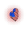 Balloons in the USA flag colors icon comics style vector image vector image