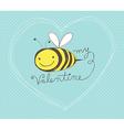 bee my valentine vector image vector image