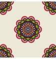 Boho doodle mandala seamless pattern vector image vector image