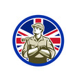 british builder union jack flag icon vector image vector image