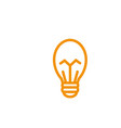bulb energy electricity light yellow line style vector image