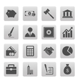 business icons on gray squares vector image vector image