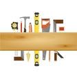 Carpenter Tool Flat Banner vector image vector image