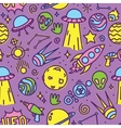 Cartoon space aliens seamless pattern vector image vector image