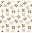 cat and dog head seamless pattern for wallpaper vector image vector image