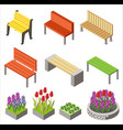 colorful design of arranged isometric icons with vector image vector image