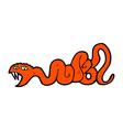 comic cartoon snake vector image vector image
