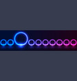 concept abstract sci-fi banner with blue purple vector image vector image