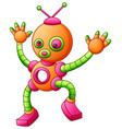 cute cartoon dancing robot isolated on white backg vector image vector image