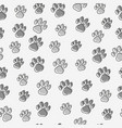 dog or cat paws seamless pattern vector image vector image
