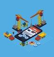 Flat app development vector image
