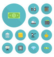 flat icons verdict money money box and other vector image vector image