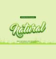 fresh natural green 3d editable text effect