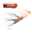 goalkeeper jumping for the ball vector image vector image