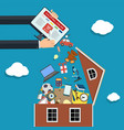 goods in house vector image