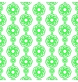 Green line flower vertical pattern on white vector image vector image