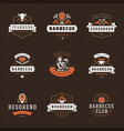 grill and barbecue logos set vector image vector image