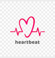 heart logo modern heartbeat abstract icon vector image