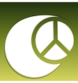 Hippie symbol vector image