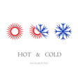 hot and cold symbols set vector image vector image