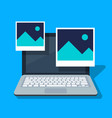 icon picture or paper photo on a laptop screen vector image