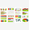 infographics elements info charts diagrams and vector image vector image