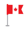 isolated flag of canada vector image vector image