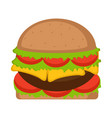 isolated hamburger icon fast food vector image