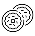 jewish sweet bakery icon outline style vector image