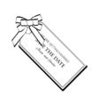 label ribbon bow wedding invitation template save vector image