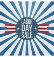 Labor Day Sale greeting Badge vector image