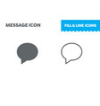 message icon fill and line flat vector image