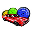 old school car muscle car vector image vector image